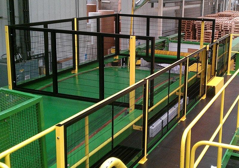 Perimeter guard corrugator