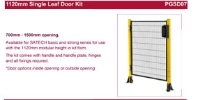 SATECH Single leaf door kit