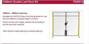 SATECH 1420mm double leaf door kit data sheet