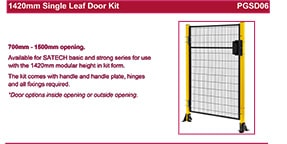 SATECH 1420mm single leaf door kit data sheet