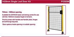 SATECH 1420mm single leaf door kit data sheet