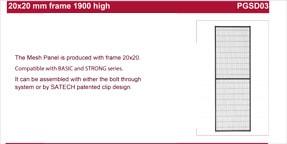 SATECH 1900mm panels data sheet