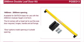 SATECH 2060mm double leaf door kit data sheet