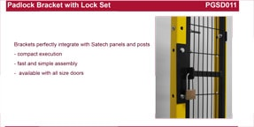 SATECH padlock bracket with lock set data sheet