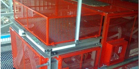 Conveyor mesh guards